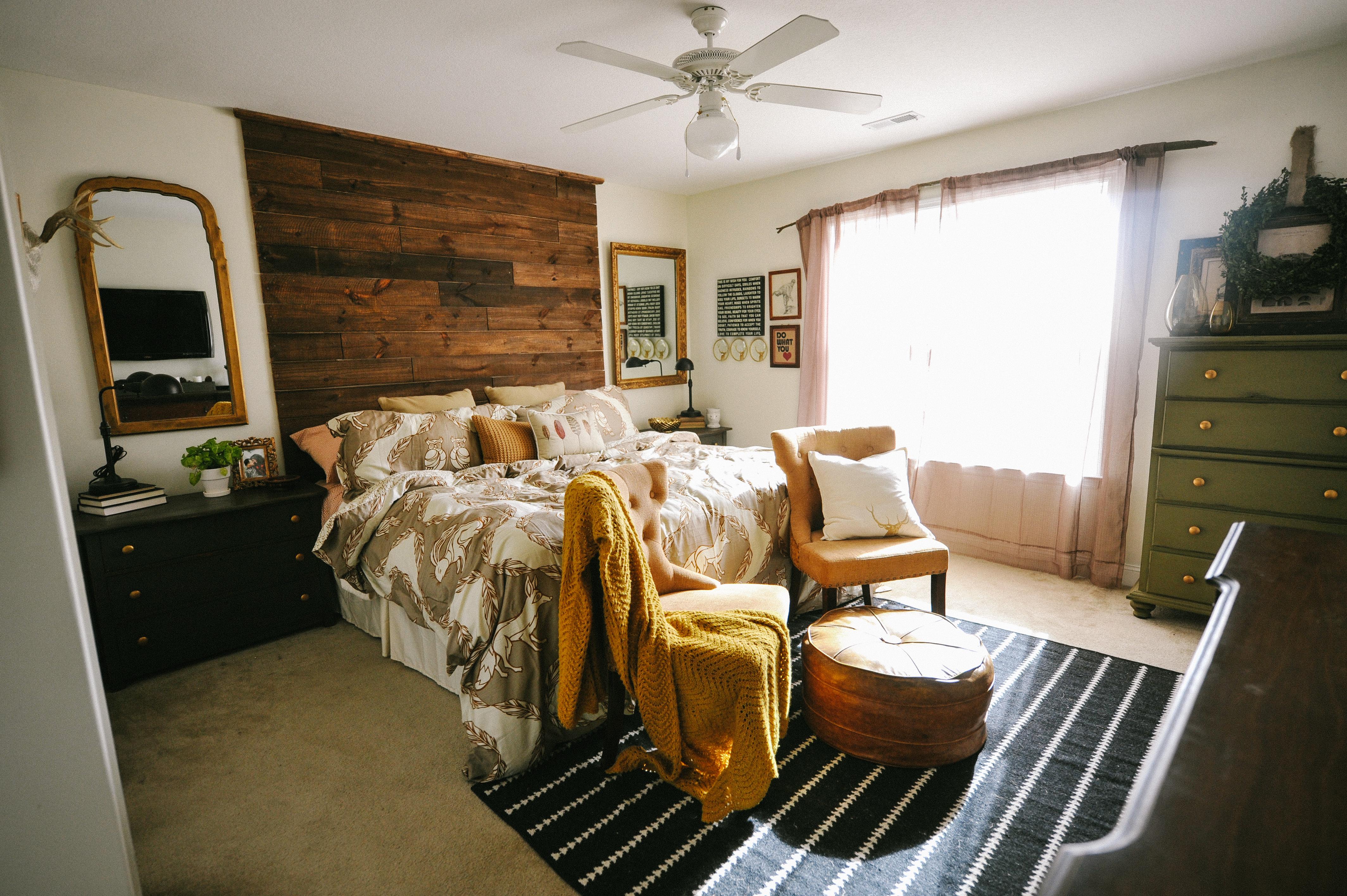 Rustic Master Bedroom - Liz Marie Blog