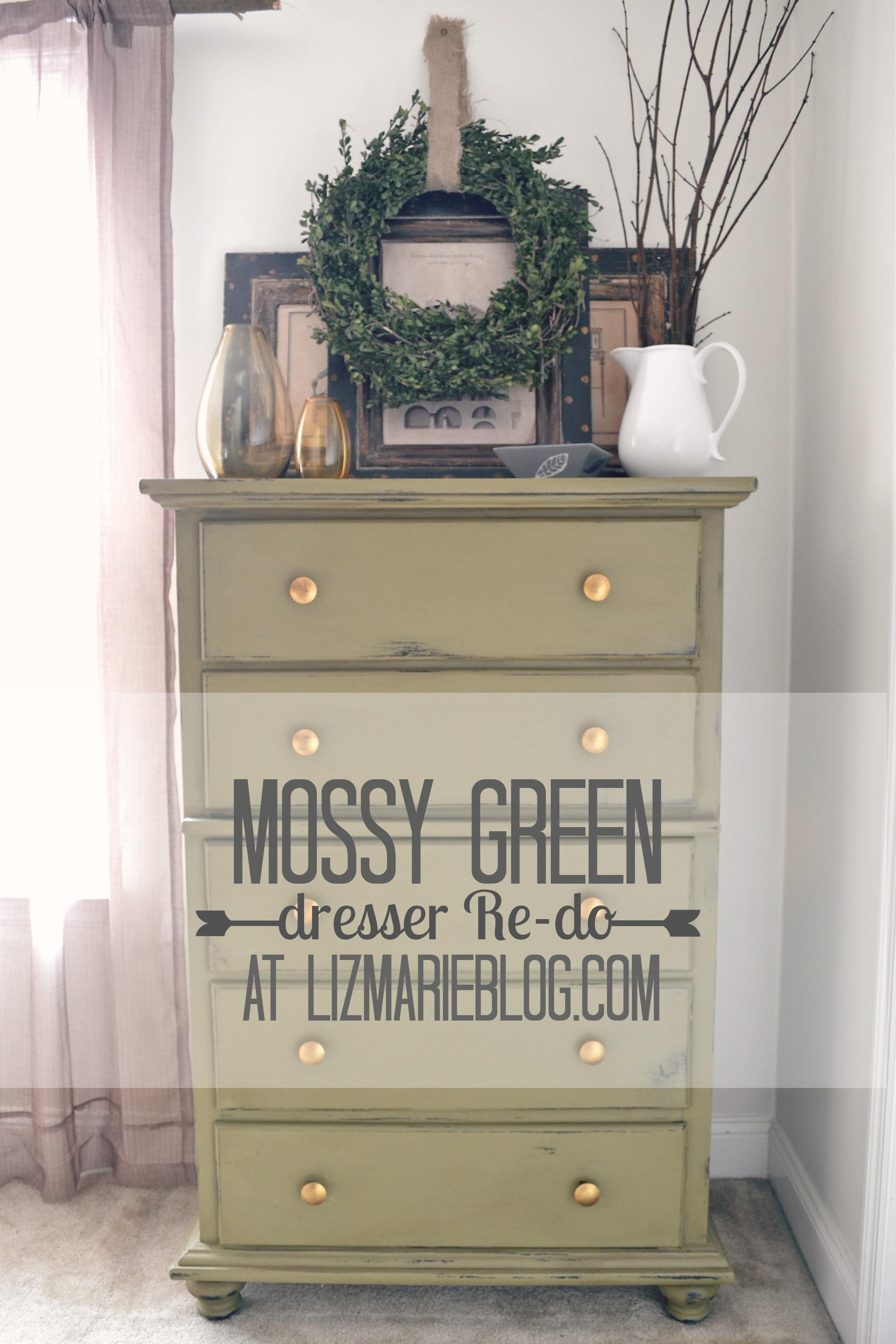 Mossy Green Dresser Re-do