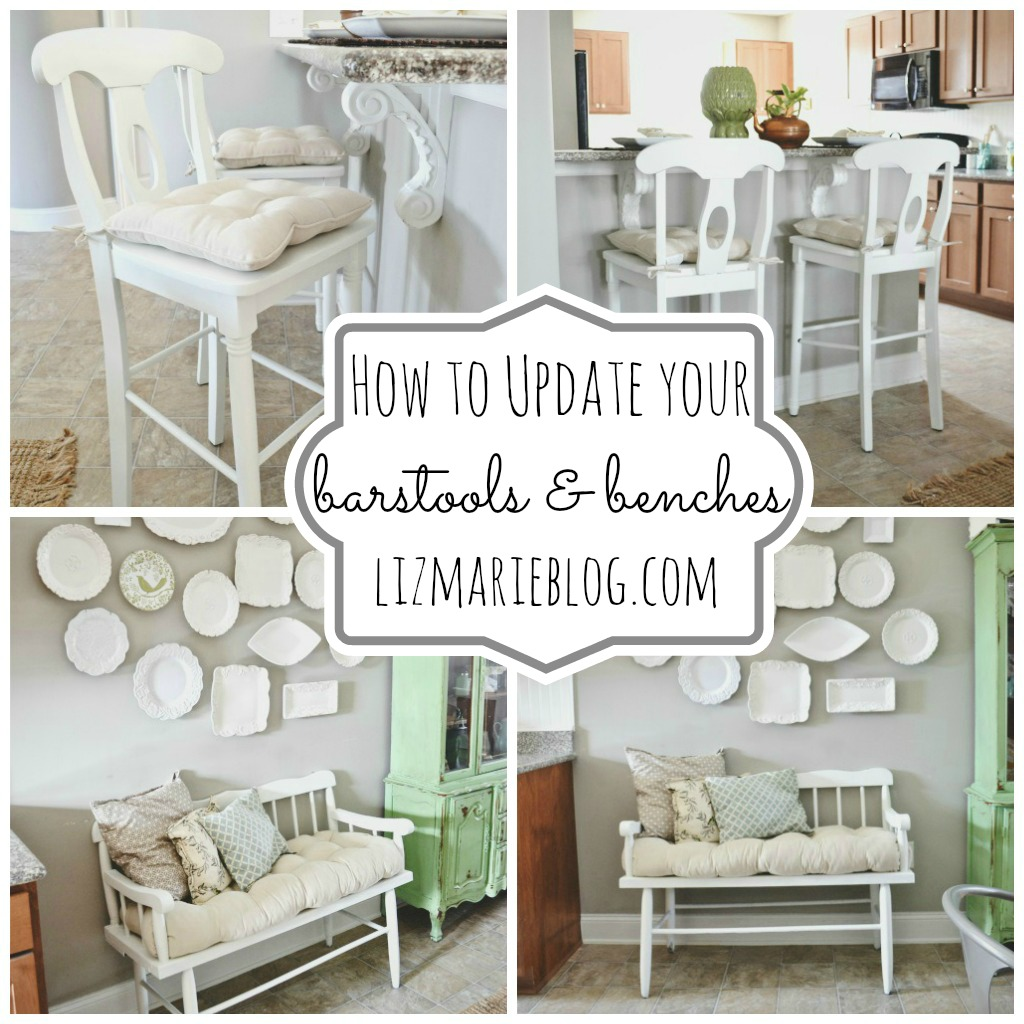 , Barstools & Bench Makeover