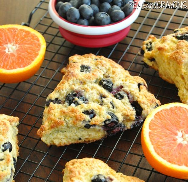 fluffy orange blueberry honey glazed scones 620 watermark