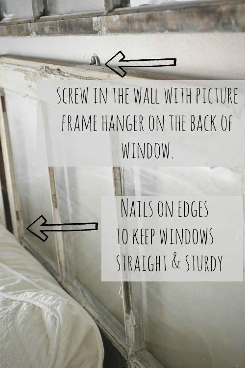 antique window headboard, DIY Antique Window Headboard