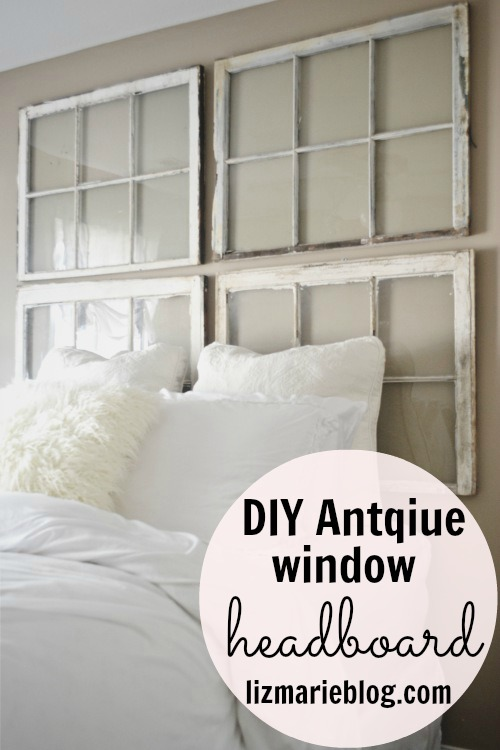 & DIY Antique Window Headboard