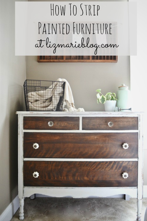 How To Strip Painted Furniture Dresser Graphic