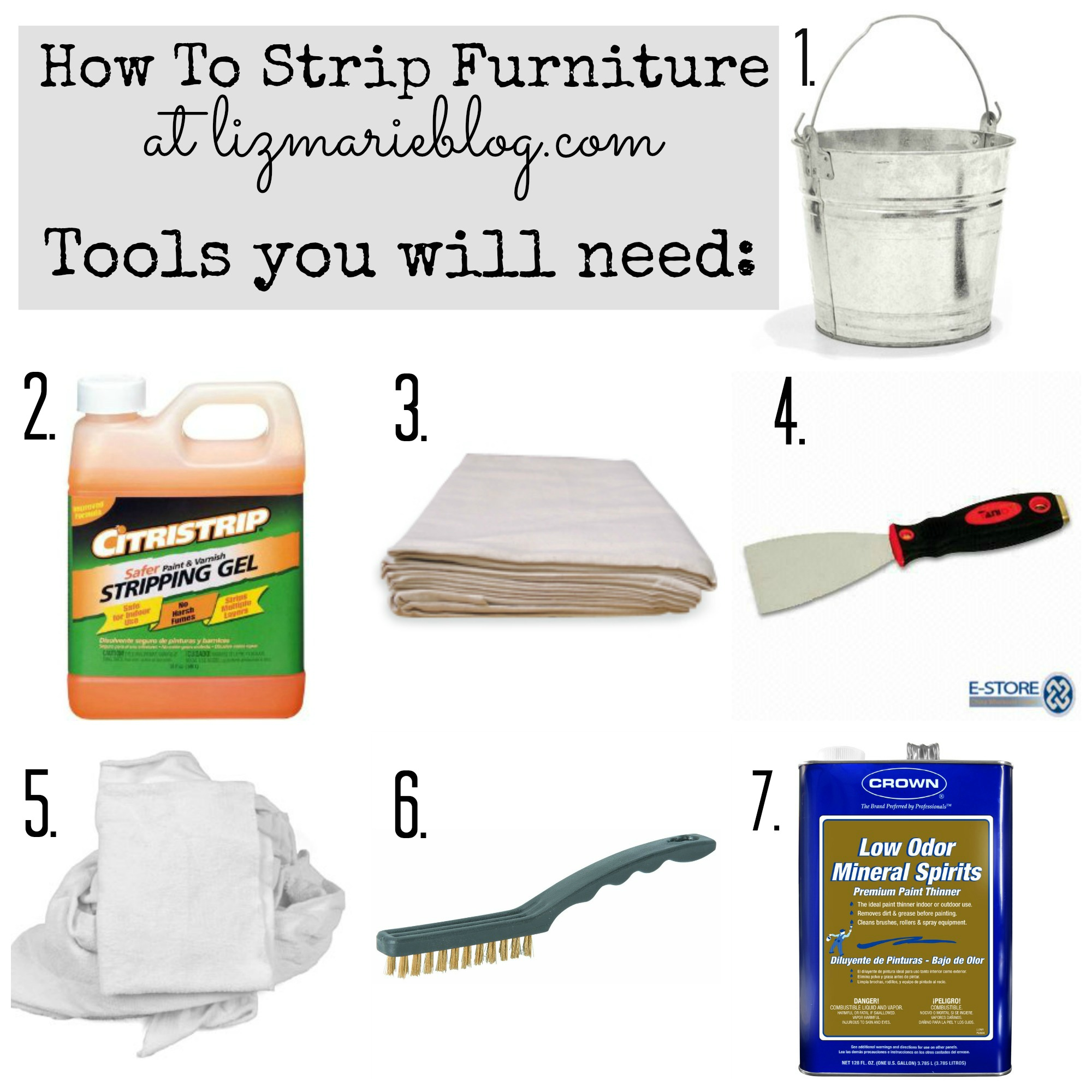 Tools you'll need to strip painted furniture