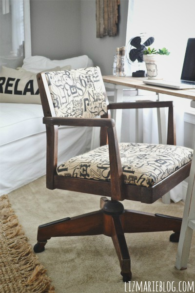 , Vintage Desk Chair Makeover