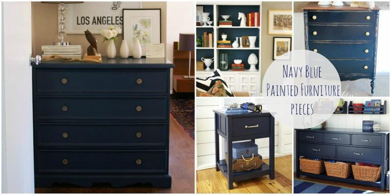 navy painted furniture
