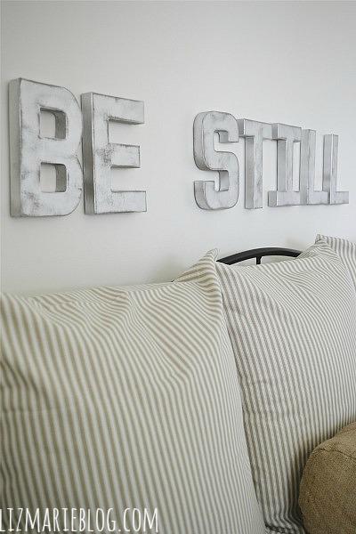 DIY Metal Letters - lizmarieblog.com
