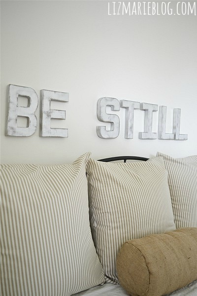 DIY Metal Letters – Be Still & Know.