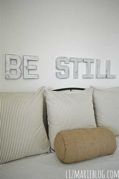DIY Metal Letters, DIY Metal Letters – Be Still & Know.