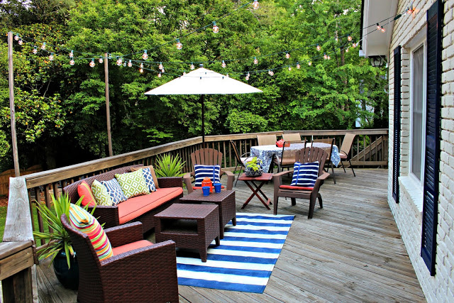 Nautical Lakehouse Inspired Back Porch
