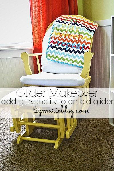 Glider makeover - How to paint a glider lizmarieblog.com