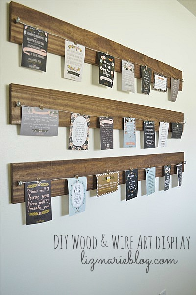DIY Wood and Wire Art display