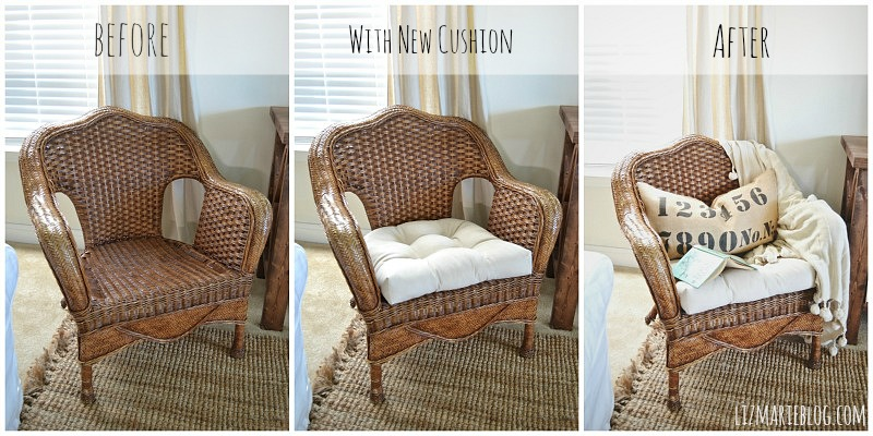 Thrifted Wicker Chair Liz Marie Blog