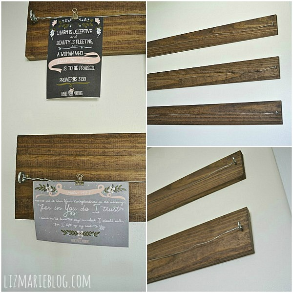 DIY wood and wire art display, DIY Wood and Wire Art display