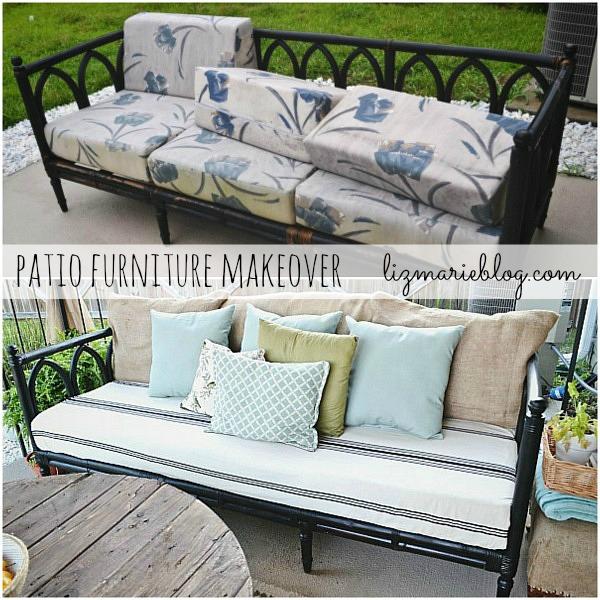 outdoor sofa, Outdoor Sofa Makeover