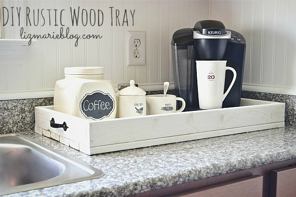 DIY Rustic Wood Tray, DIY Rustic Wood Tray