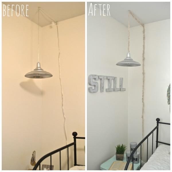 "DIY ""No Sew"" Cord Cover - lizmarieblog.com"