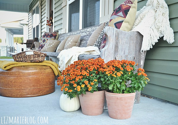 Fall porch - lizmarieblog.com