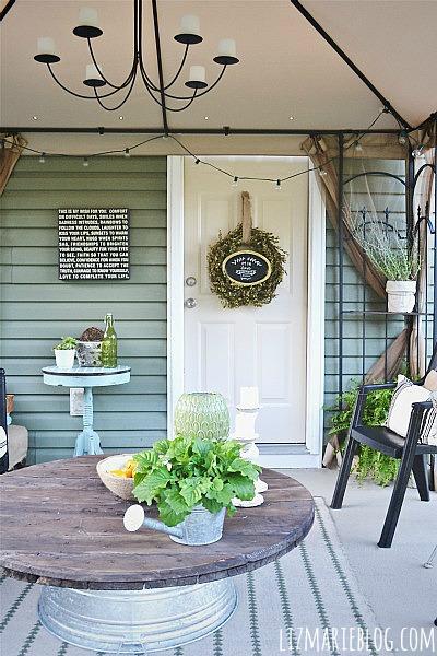 Patio door makeover - the easy way! lizmarieblog.com