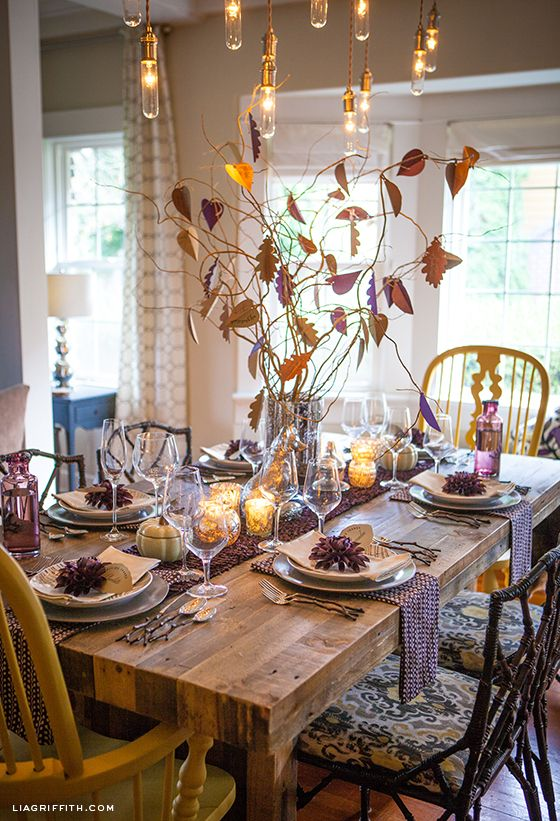 28 Simple Dining Room Ideas For A Stunning Inspiration: 10 Beautiful Thanksgiving Tablescapes