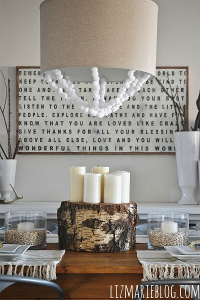 diy tree stump centerpiece, DIY Tree Stump Centerpiece
