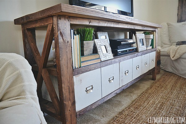 DIY card catalog drawers - lizmarieblog.com