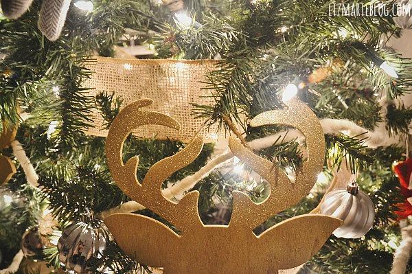 DIY Gold Deer Silhouette Ornaments - lizmarieblog.com