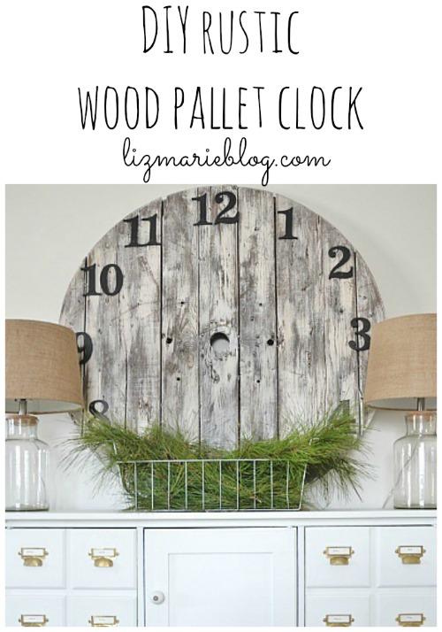 DIY wood pallet clock, DIY Wood Pallet Clock