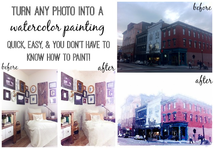 How to turn any photo into a water color painting - lizmarieblog.com