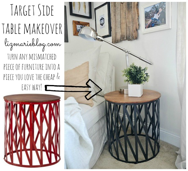 Target side table makeover & the best spray paint ever - lizmarieblog.com