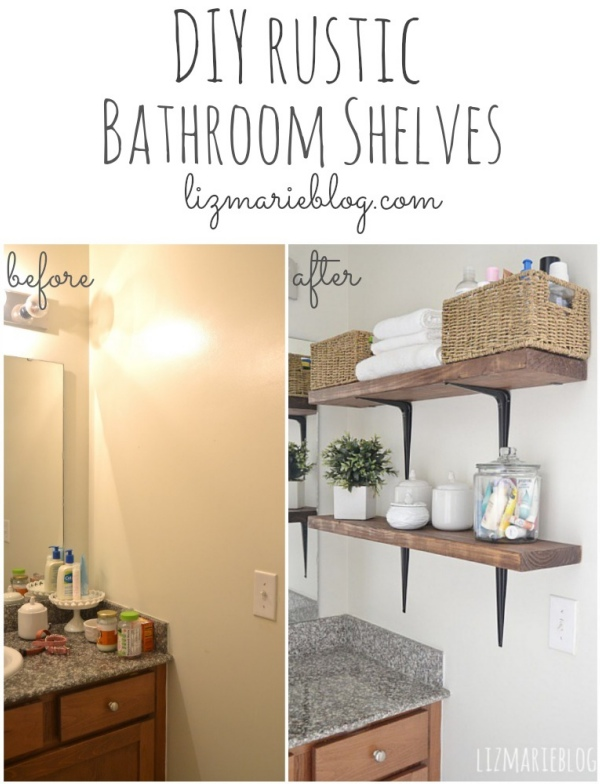 Prime Diy Rustic Wood Metal Bathroom Shelves Liz Marie Blog Download Free Architecture Designs Scobabritishbridgeorg
