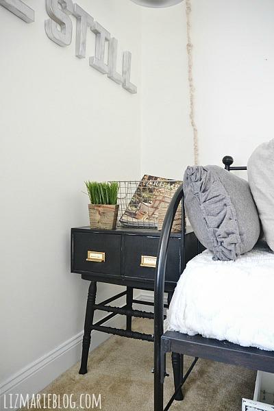 Card catalog side table, Front Guest Bedroom Makeover: Card Catalog Side Tables