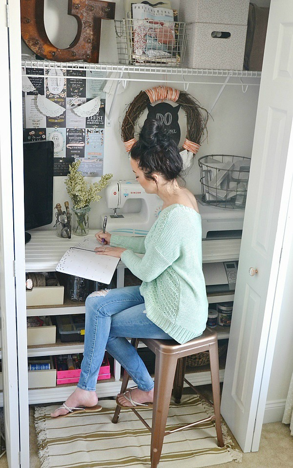 DIY Craft Closet Office