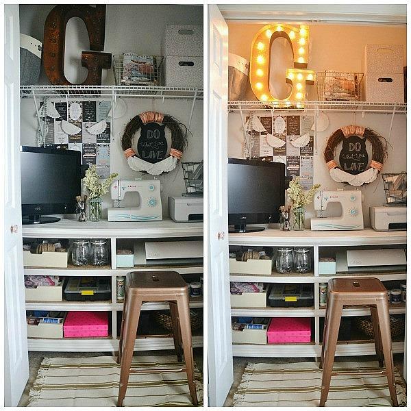 DIY Craft Closet Office, DIY Craft Closet Office