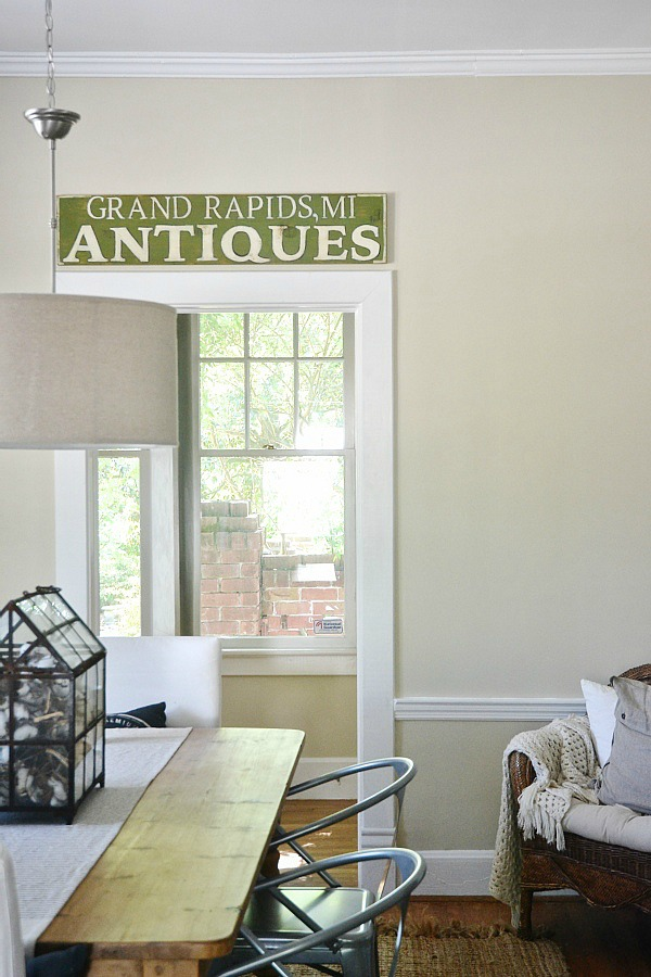 DIY antique sign, DIY Antique Sign