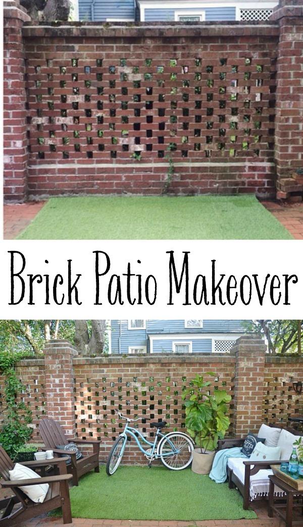 Brick patio makeover - lizmarieblog