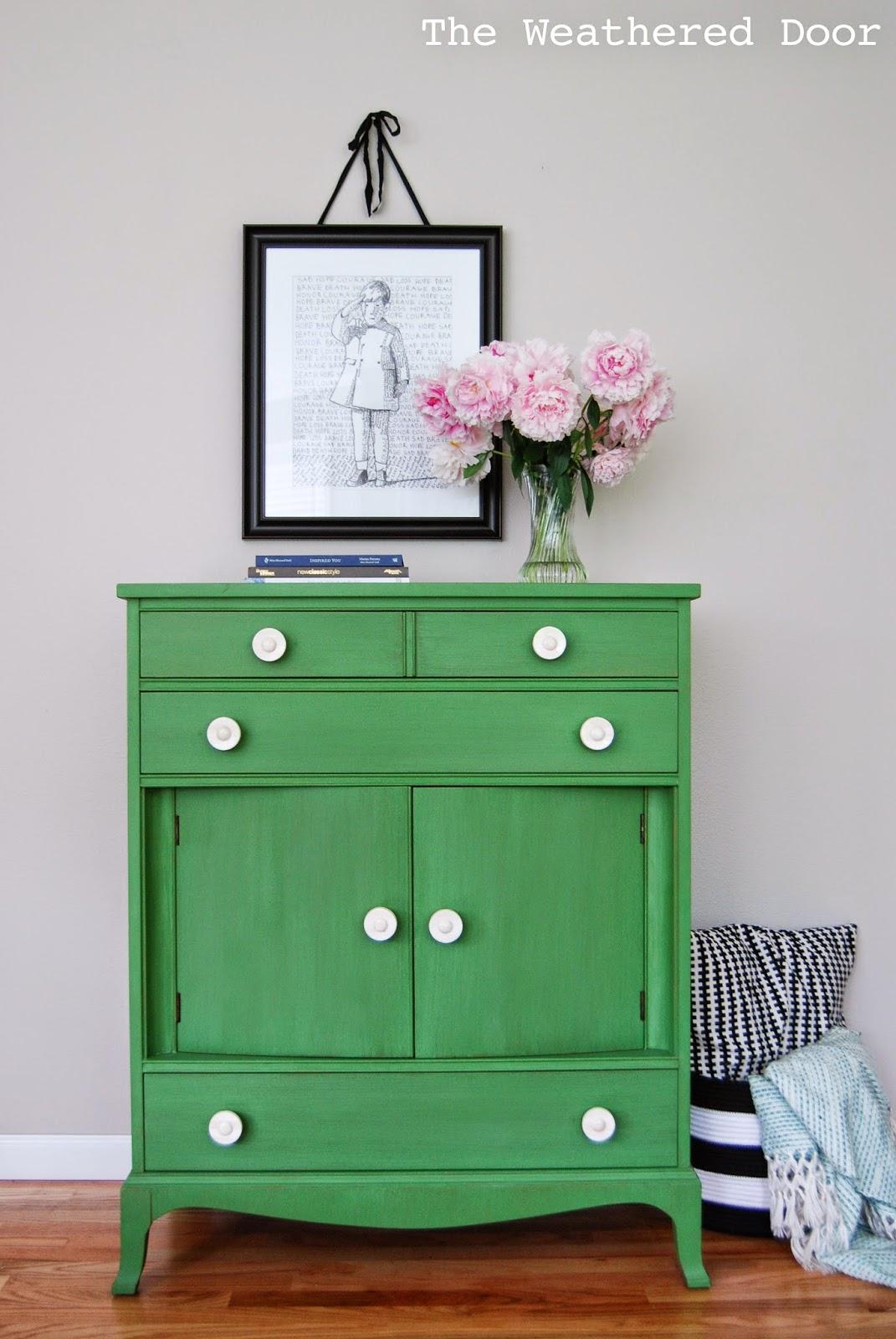 Tavern Green Milk Paint Dresser WD-1