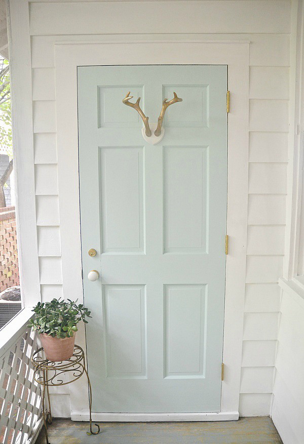 Mint door makeover