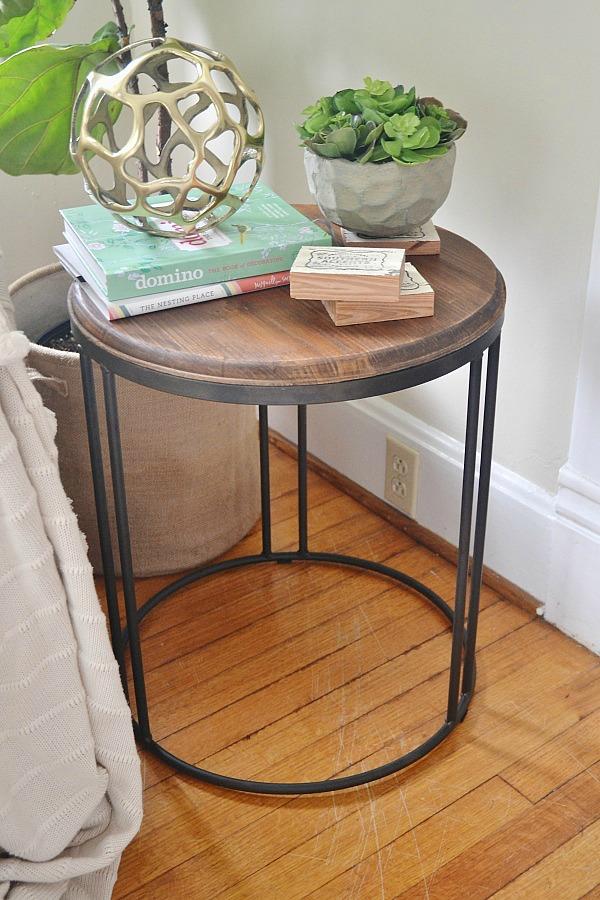 Wood & Metal Industrial table - lizmarieblog.com