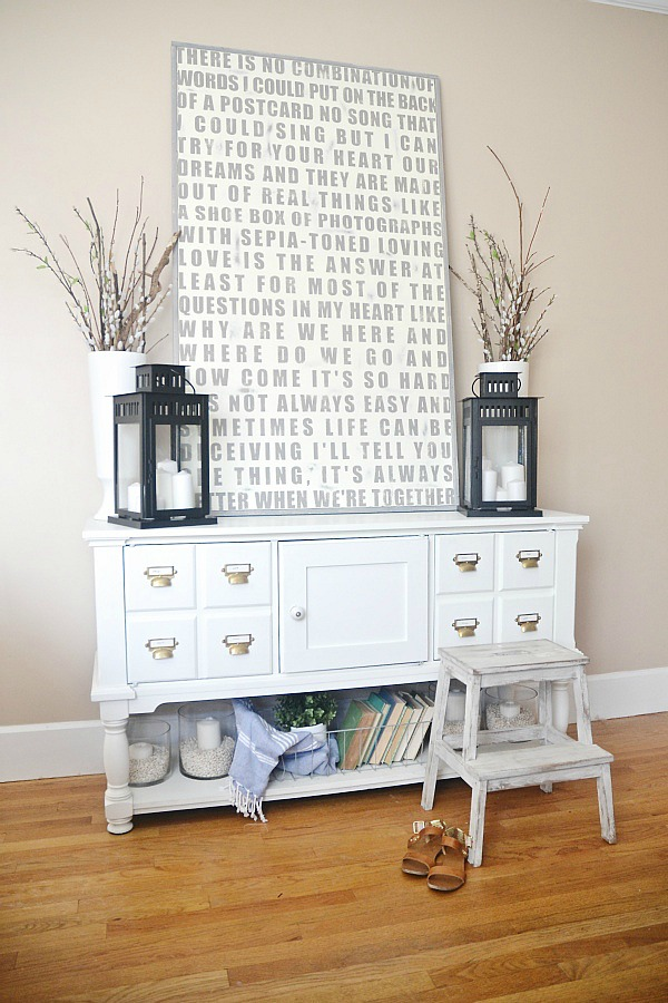 Custom Hand painted sign perfect for any home! Entryway decor - lizmarieblog.com
