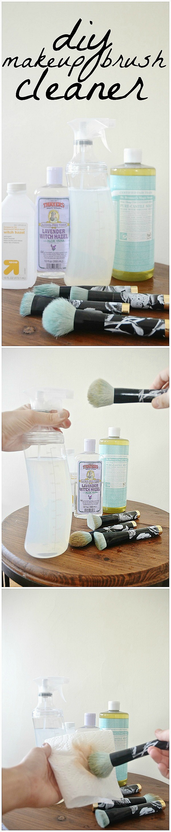 Makeup brush cleaner, DIY Makeup Brush Cleaner