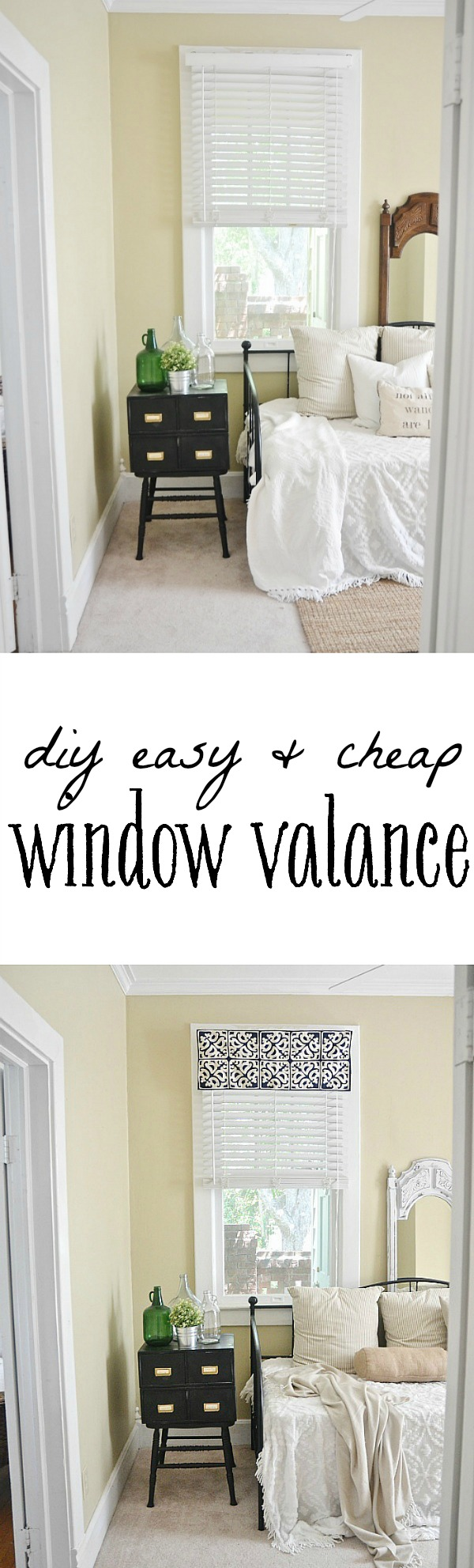 Diy Easy Window Valance No Sew Liz Marie Blog