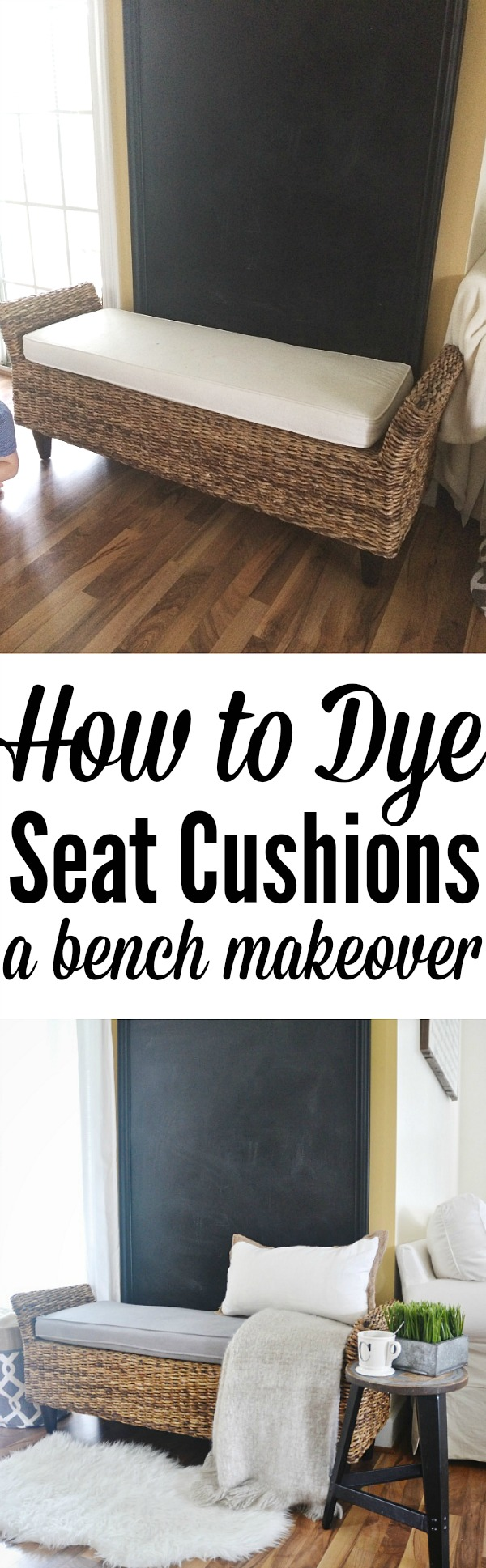 How to dye seat cushions - The easy way & for less than $10