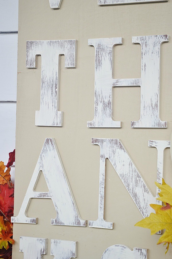 DIY Rustic Fall Sign, DIY Rustic Fall Sign – Give Thanks