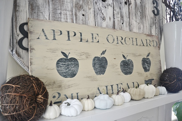 DIY Antique Orchard Fall Sign