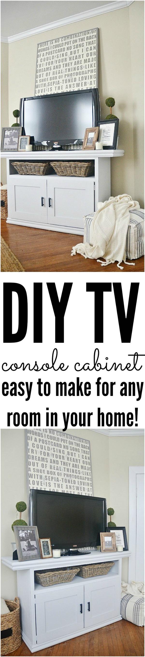 DIY TV Console Cabinet - lizmarieblog.com