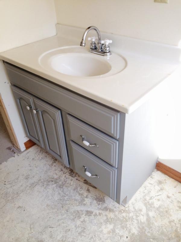 Painted Bathroom Vanity Michigan House Update Liz