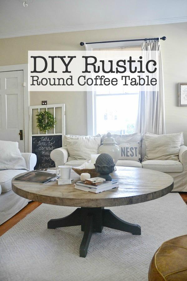 diy round coffee table, DIY Round Coffee Table