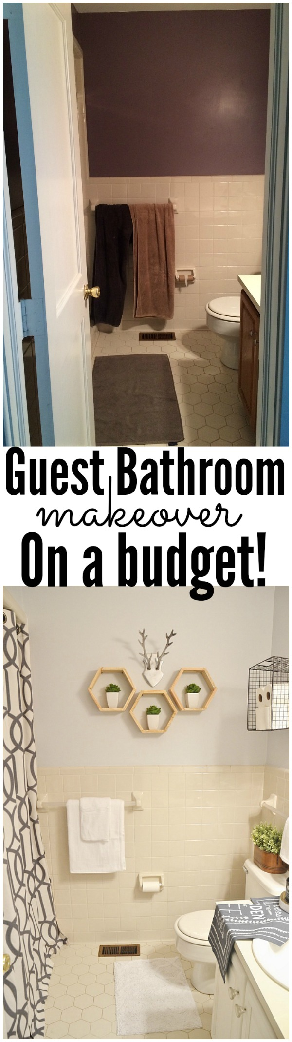Bathroom makeover - on a SERIOUS budget! A must pin for anyone living with rooms that they don't love.