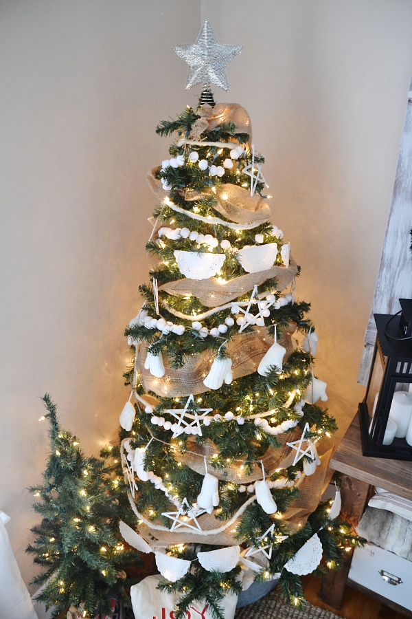 rustic white christmas tree, Rustic White Christmas Tree